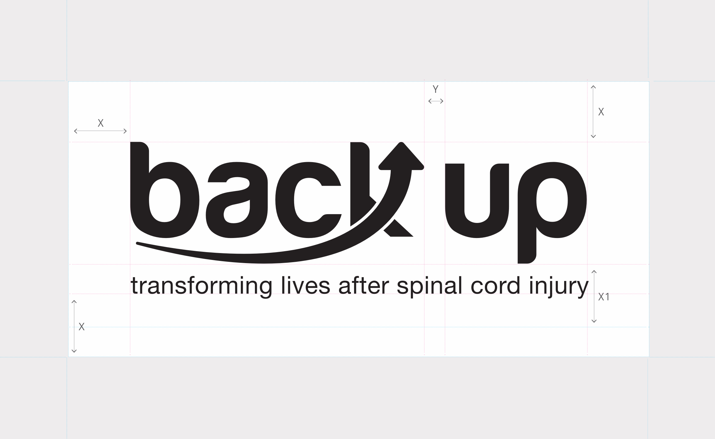 Back Up – logo sizing