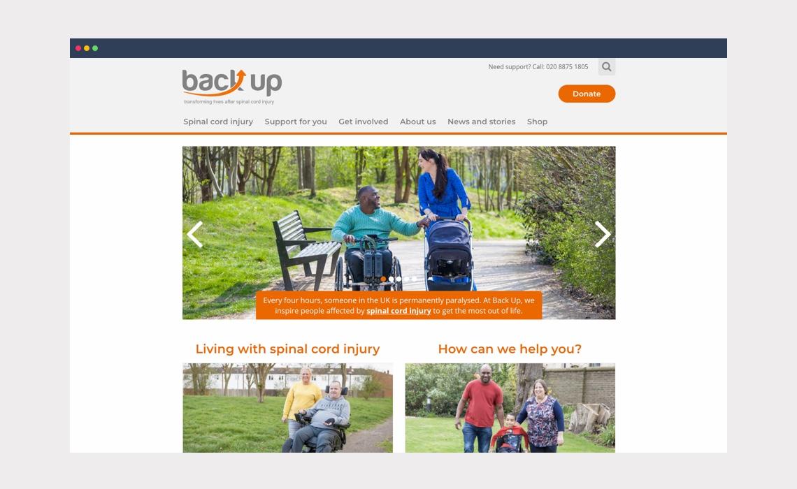 Back Up – website design