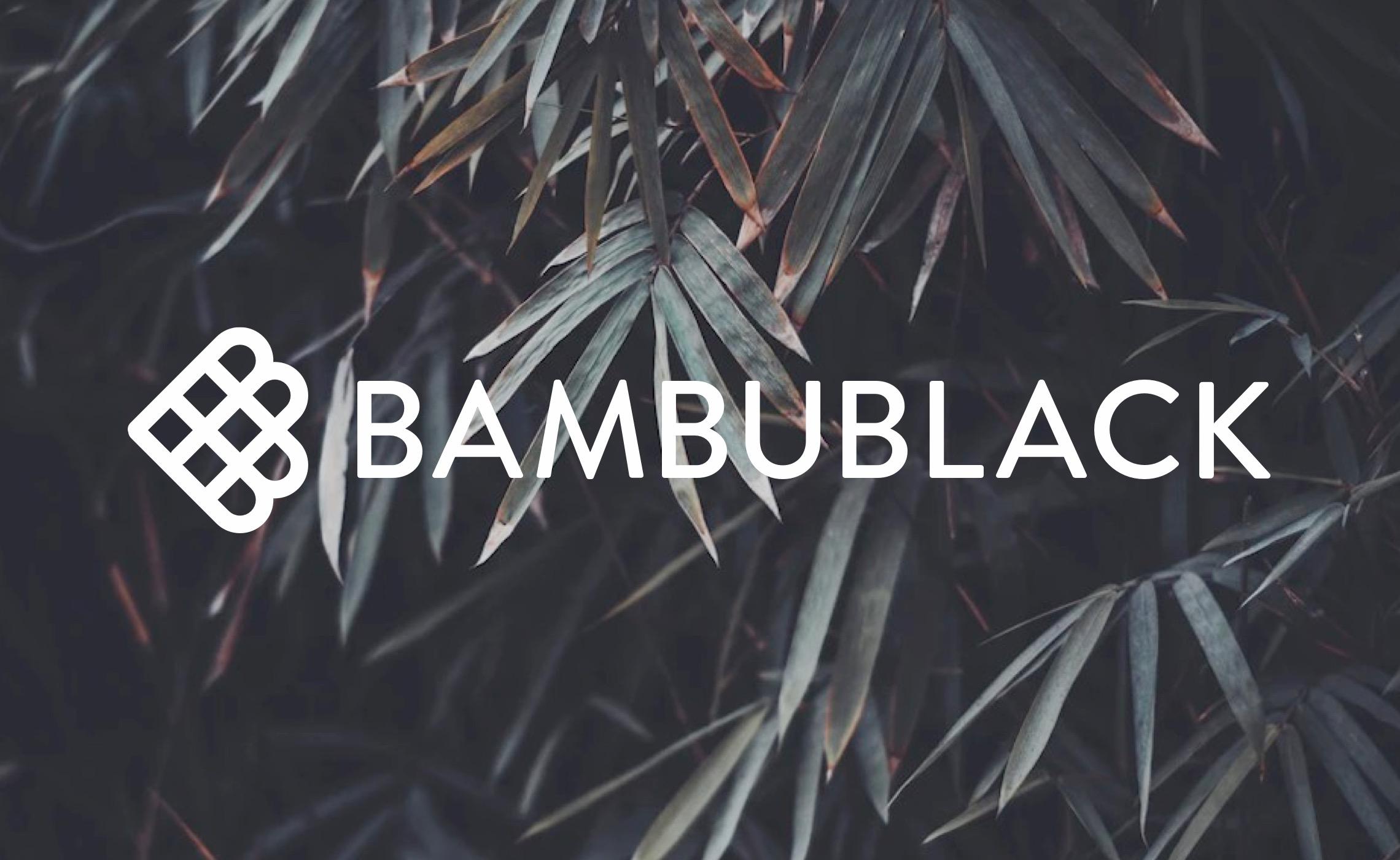 BambuBlack - white logo