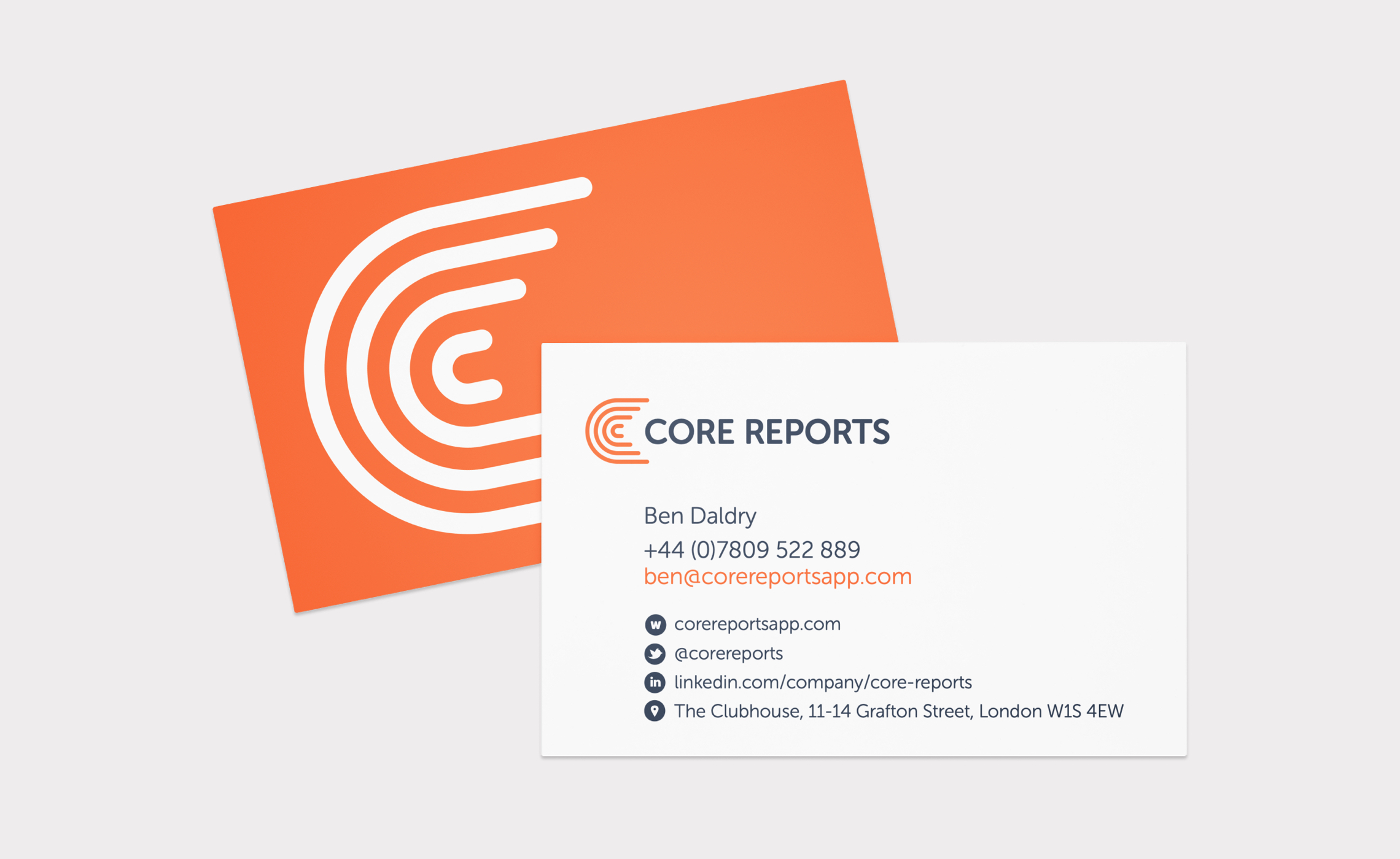 Core Reports - business card