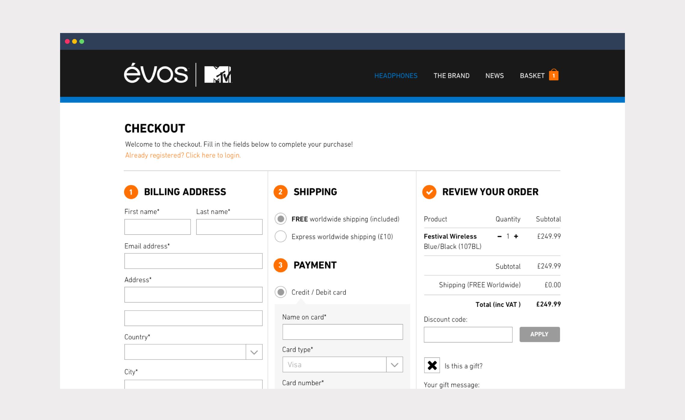 Évos | MTV – eCommerce