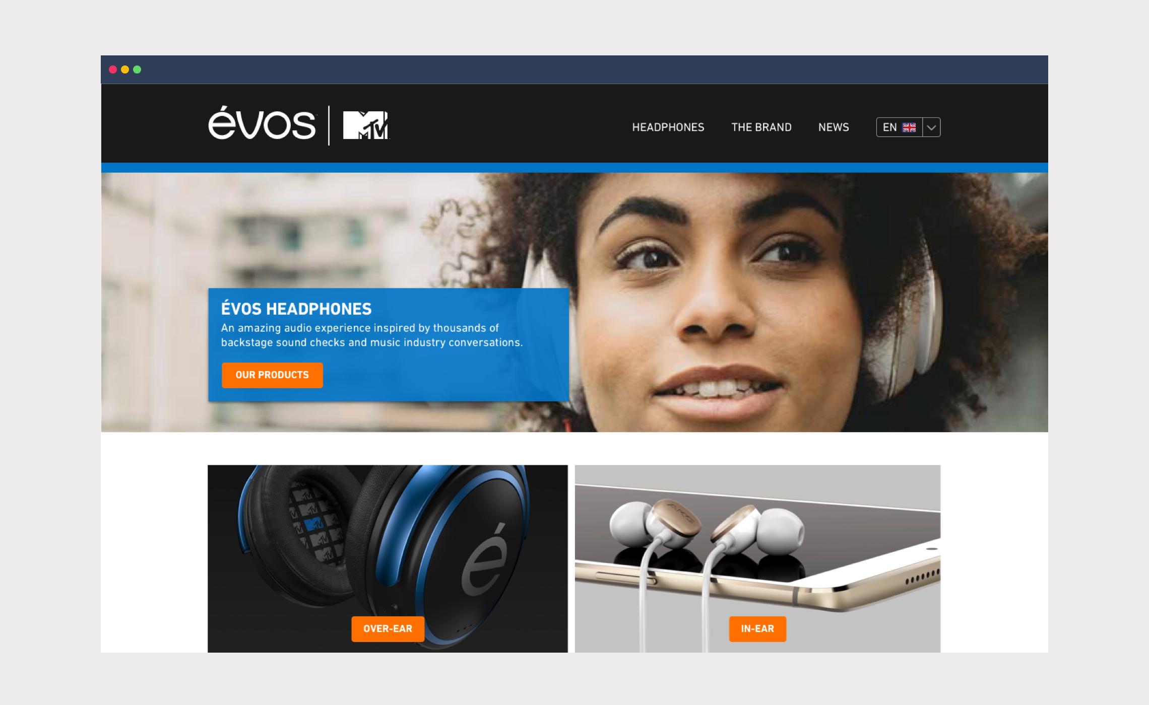 Évos | MTV – website