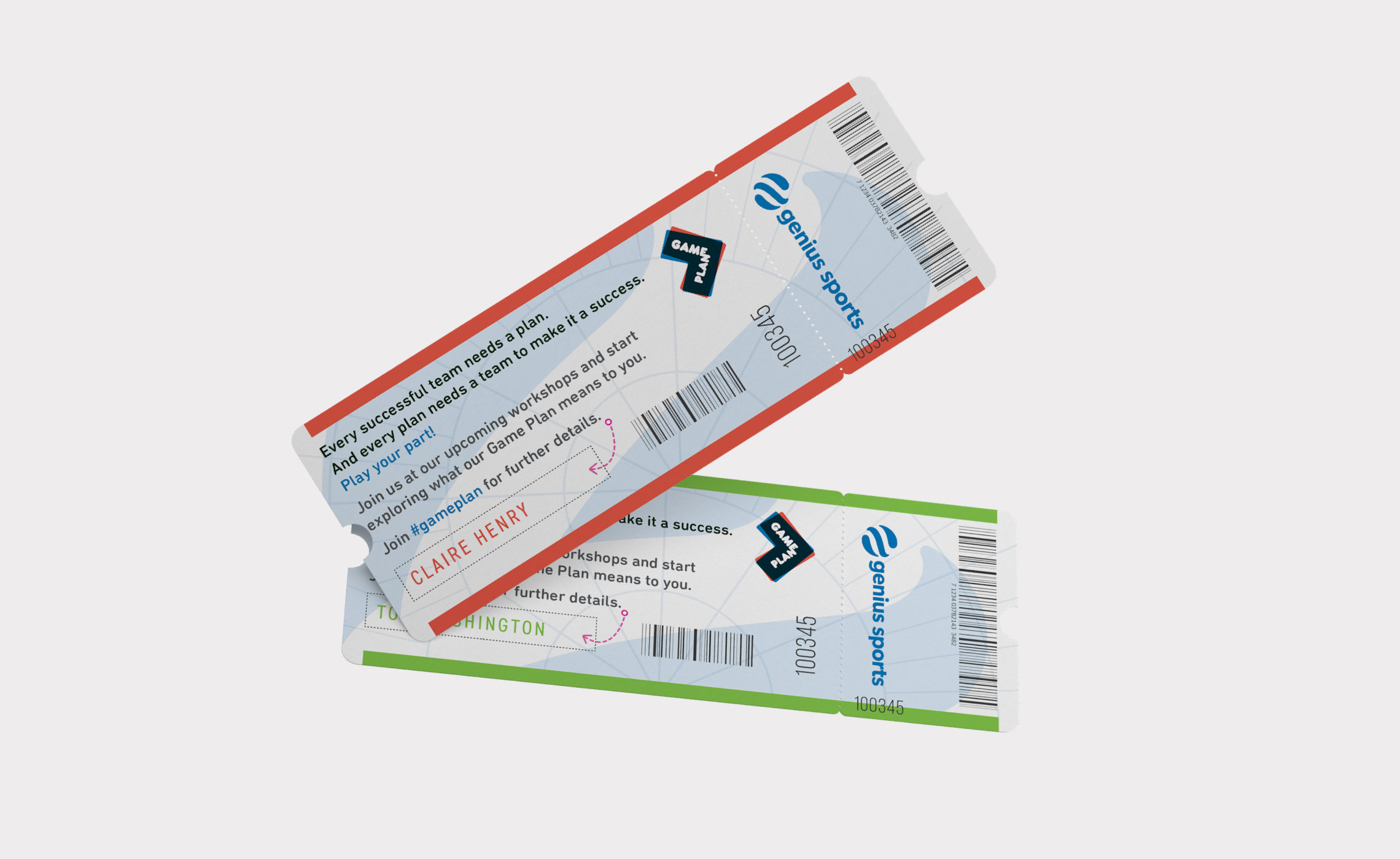Genius Sports – personalised ticket