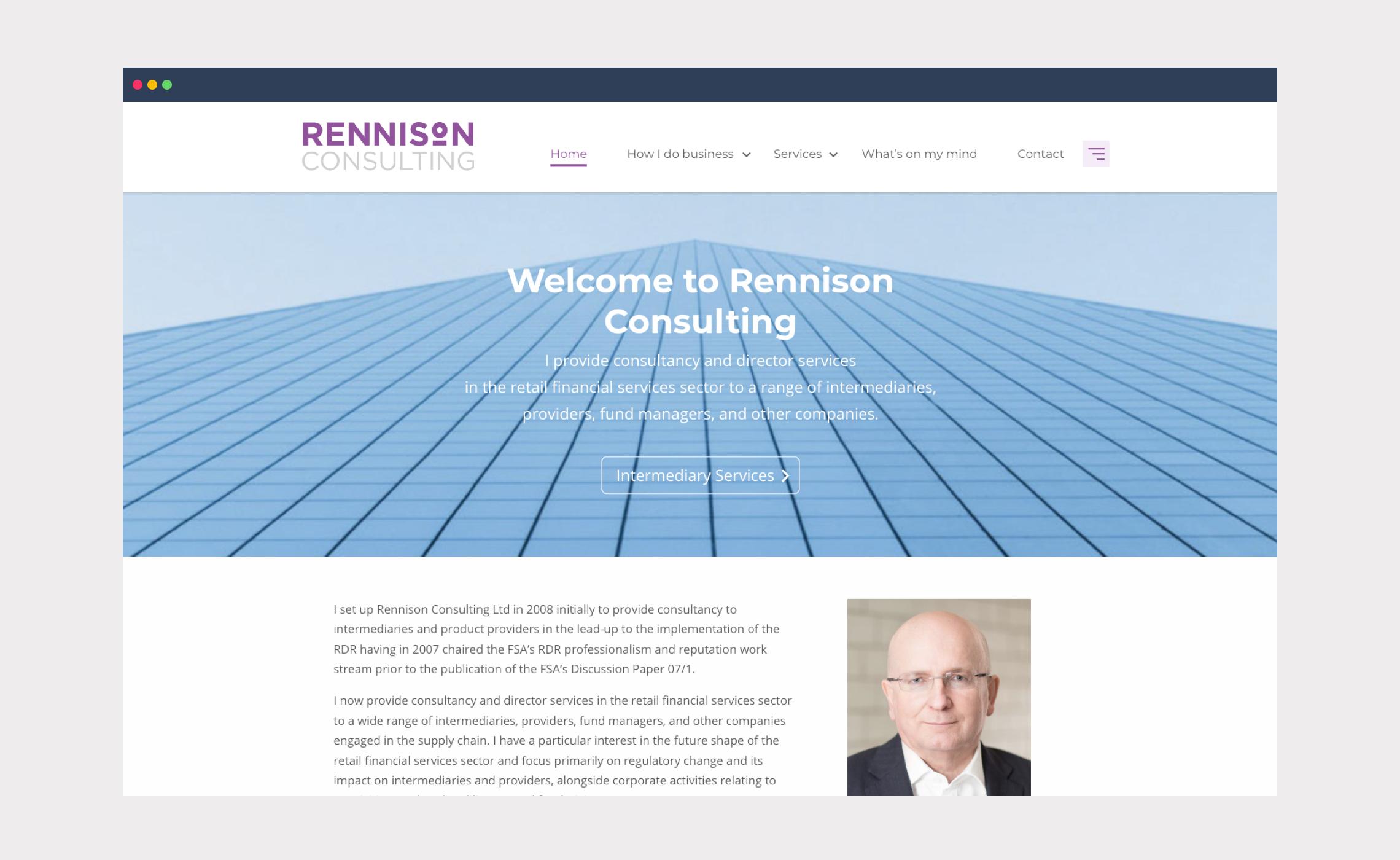 Rennison Consulting – website design