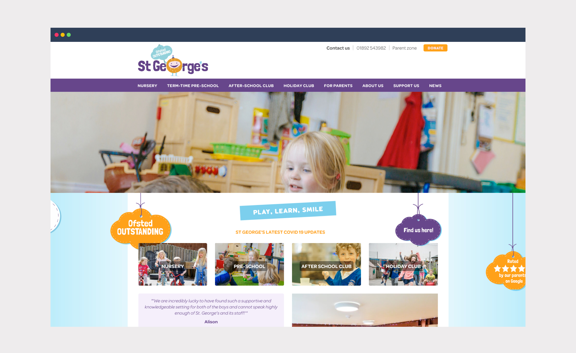 St George's Childcare – website