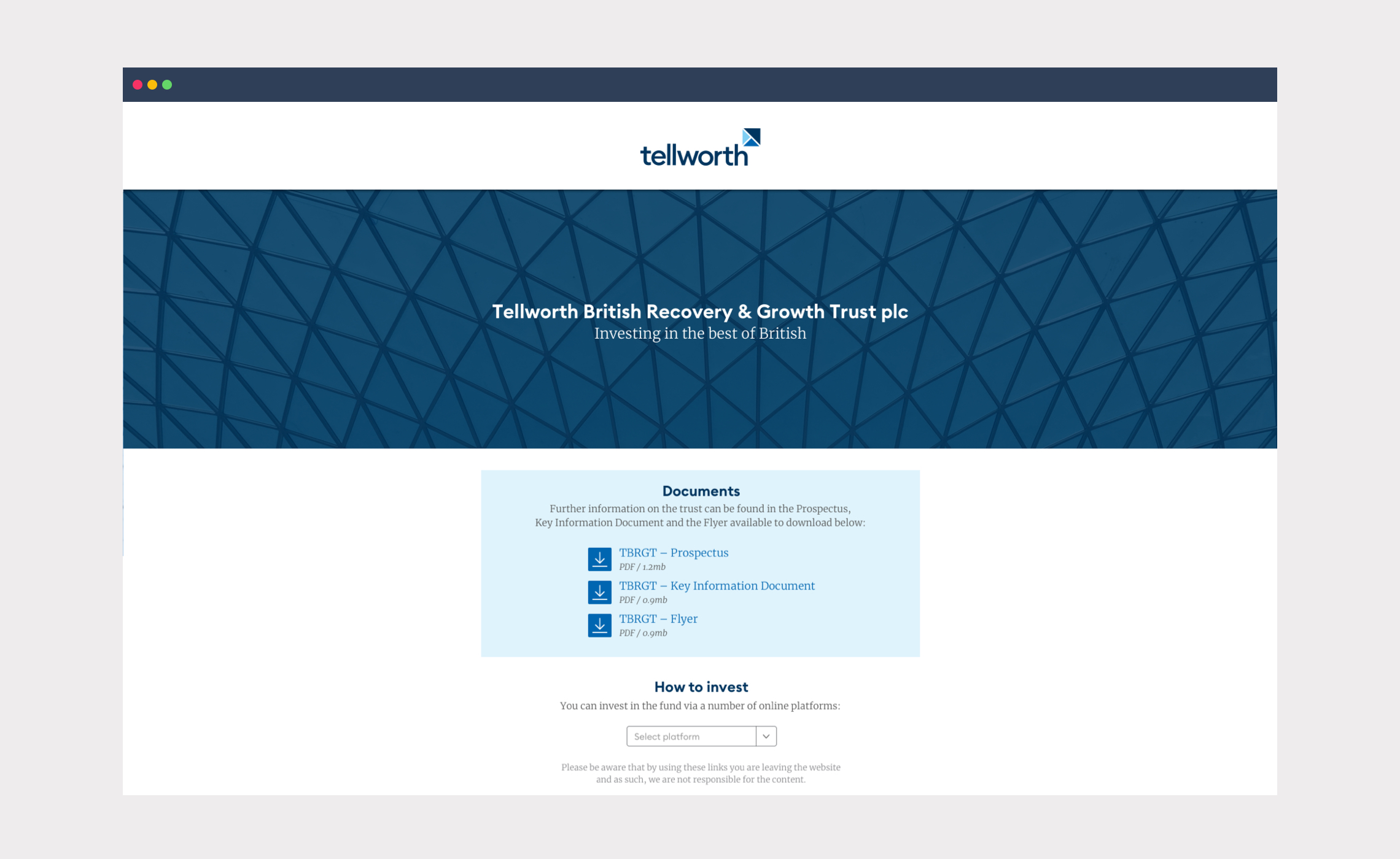 Tellworth – website