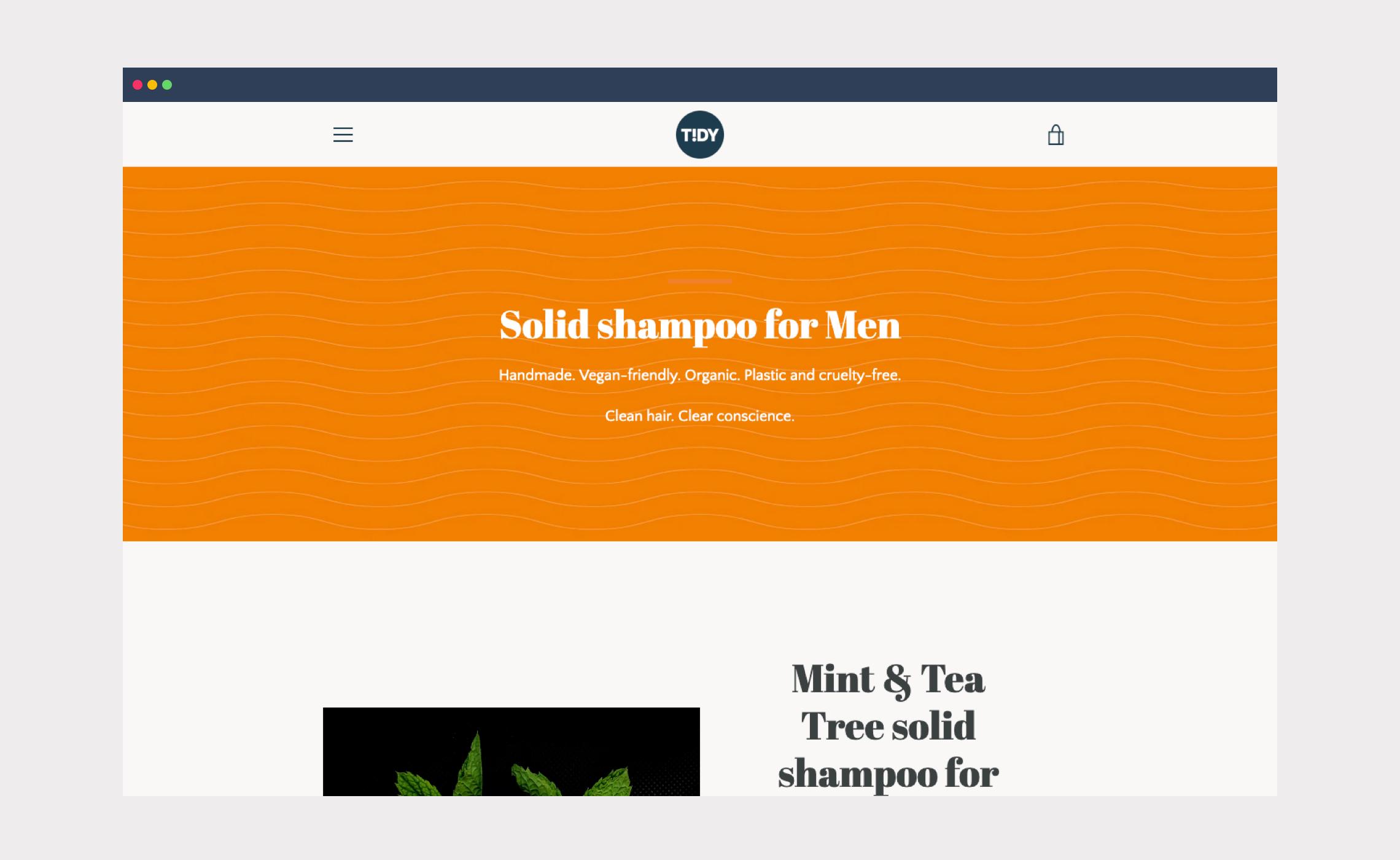 Tidy – website shop